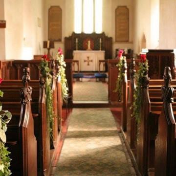The stunning church interior