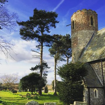 We have the stunning saxon church of St Mary at Fishley at the end of the road! Churches don't come more romantic.